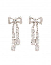 Crystal Bow Drop Earrings