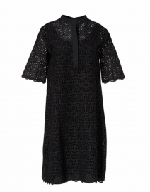 Black Lace Eyelet Cotton Dress