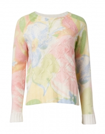 Multi Floral Cashmere Sweater