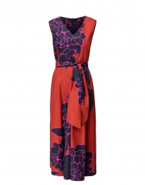 Vienna Red Hydrangea Print Cotton Dress