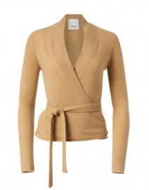 Salted Caramel Wool Cashmere Wrap Cardigan