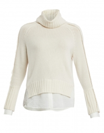 Jolie Ivory Wool Cashmere Layered Turtleneck