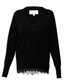 Black Lace Wool and Cashmere Sweater