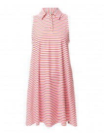 Harlee Coral Striped Polo Dress