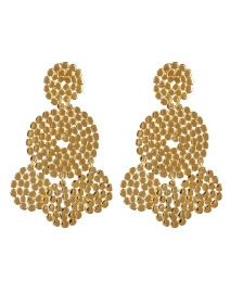 Lucky Sequin Gold Circle Drop Earrings