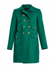 Marceline Green Wool Double Breasted Coat