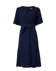Esmeralda Navy Stretch Crepe Dress