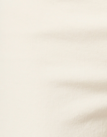 Ecru - Kinney Beige with White Side Stripe Stretch Cotton Pant