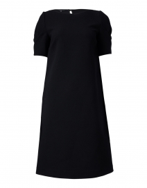 Milena Black Wool Crepe Dress