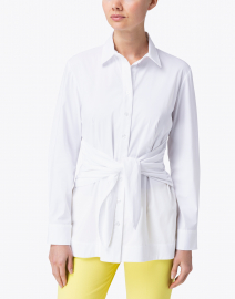 Finley - Ellis White Solid Tie Front Tunic