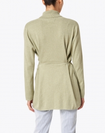 Repeat Cashmere - Light Green Cotton Cardigan