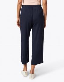 Southcott - Nevis Navy Cotton Modal Cropped Wide Leg Pant