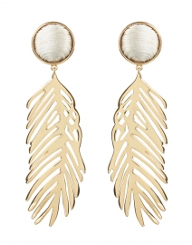 Cooper Gold Palm Drop Earrings