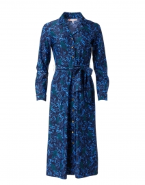 Boden Jade and Navy Floral Print Shirt Dress