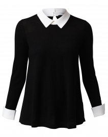 Black Sweater with White Underlayer