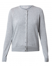 Grey Cotton Viscose Cardigan