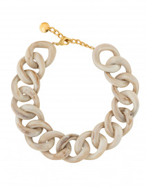 Ana Biscuit Ivory Granite Resin Link Necklace