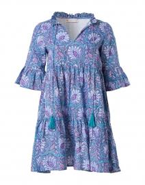 Maria Blue Floral Cotton Voile Dress
