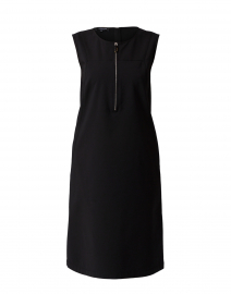 Audren Black Stretch Cotton Dress