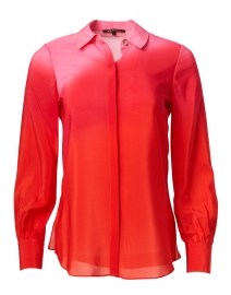 Lynn Rose Pink Ombre Silk Blouse