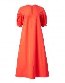 Miriam Persimmon Cotton Cut Out Short Sleeve Dress