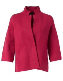 Garnet Viscose Swing Jacket