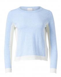 Blue Cotton Linen Sweater