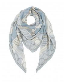 Venezia Blue Cashmere and Silk Scarf