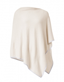 Birch Beige and Grey Cashmere Poncho