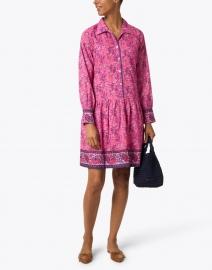 Bella Tu - Pink Floral Cotton Shirt Dress