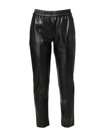 Black Vegan Leather Pull-On Pant