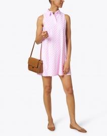 Jude Connally - Harlee Pink and White Block Print Dress
