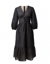 Esperanza Sheer Black Gingham Dress