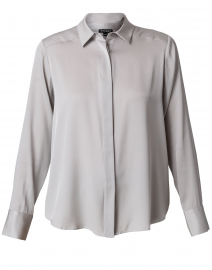 Light Grey Stretch Silk Blouse