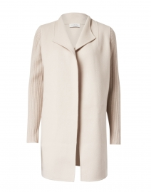 Almond Beige Wool Cashmere Coat