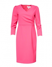 Daraya Bright Pink Sheath Dress