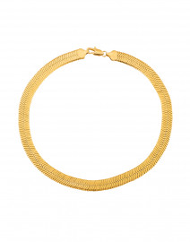 Wide Herringbone Gold Collar Necklace