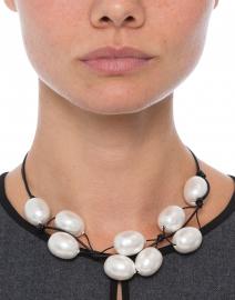 Deborah Grivas - Cotton Pearl Black Necklace