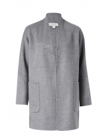 Slate Grey Wool Cashmere Jacket