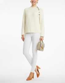 Tara Jarmon - Noula White Sweater with Buttons