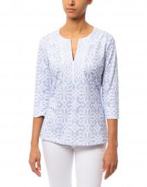 Gretchen Scott - Piazza Pale Blue Printed Tunic