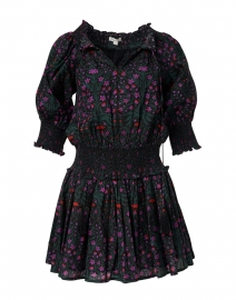 Favela Pink, Black and Green Rhone Print Dress