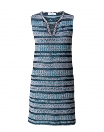 Cardo Teal, White and Navy Striped Dress