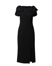 Galina Midnight Black Crepe Dress