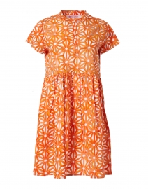 Feloi Orange Floral Printed Cotton Dress