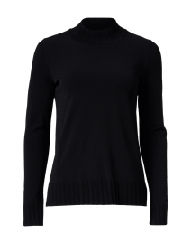 Black Ribbed Viscose Sweater