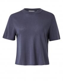 Dark Marina Blue Seamless Knit Top