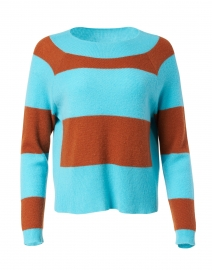 The Standout Blue and Cognac Cashmere Sweater