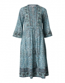Sylvia Sage Green Floral Printed Cotton Dress