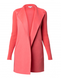 Rosa Coral Wool Cashmere Coat